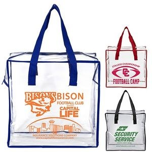"""Arete"" Clear Vinyl Stadium Compliant Tote Bag"