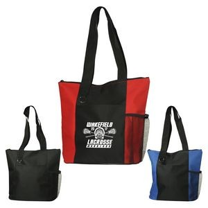 Fun Zippered Business Tote Bag with Pockets