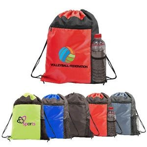 Color Block Drawstring Backpack