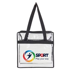 Clear Stadium Zipper Tote