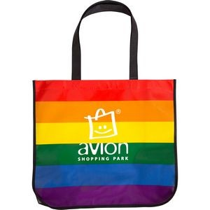 Large Rainbow Laminated Tote